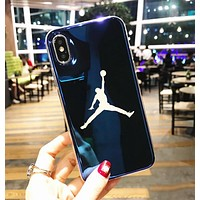 Jordan New Stylish Women Men Personality Blue-Ray Silicone Cellphone Case For iphone 6 6s 6plus 6s-plus 7 7plus iphone 8 iphone X Soft Protective Shell Blue I12716-1