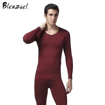 Winter Thermal Sleepwear Sets Men Brand Hot Dry Technology Elastic Men Thermo Sleepwear Suits Comfortable Warm Male Clothes