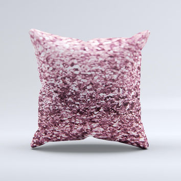 Subtle Pink Glimmer  Ink-Fuzed Decorative Throw Pillow