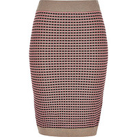 Pink metallic pencil skirt - tube / pencil skirts - skirts - women