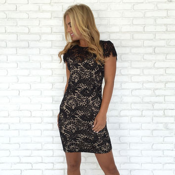 Back Down Lace Holiday Dress