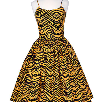 Chelsea Dress in Jungle Tiger print
