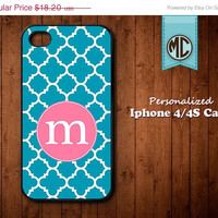 20% OFF SALE Personalized iPhone 4 Case - Plastic iPhone case - Rubber Silicone iPhone case - Monogram iPhone case - iPhone 4s case - MC080