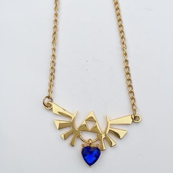 The Legend of Zelda Winged Triforce Alloy necklace Cosplay Collection GiftKawaii Pokemon go  AT_89_9