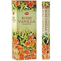 Rose Vanilla - Box of Six 20 Stick Tubes - HEM Incense