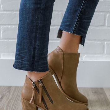 Twice As Nice Booties - Toffee