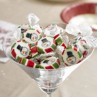 Let It Snow - snowman candy party bag Rock Sweets  Christmas dinner table