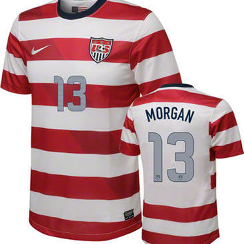 Alex Morgan #13 Home Nike Soccer Jersey: United States Soccer Home Nike Replica Jersey