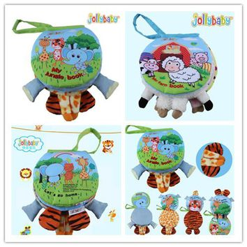 Jollybaby   Infant Pram Educational Toys Bed Around Animal Skip Zoo Child Early Cloth Book leanning baby for gift 50% off