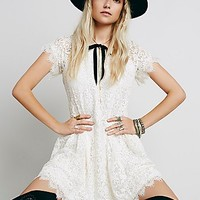 Free People Womens Stardust Lace Mini Dress