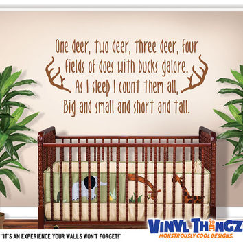 Hunting Wall Decal   Boys Room Decor   Deer Wall Decal   Baby Sh Part 80