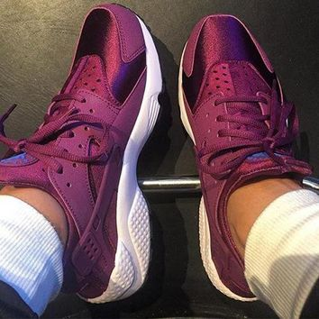 Nike Huarache Bleached Lilac Men Women Breathable Running Sport Sneakers Shoes
