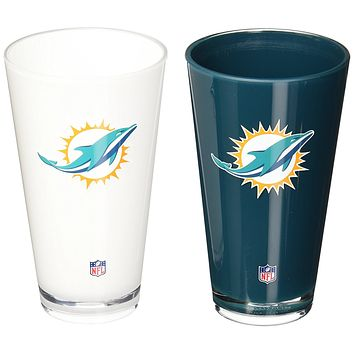 Miami Dolphins 20-Ounce Insulated Tumbler 2 Pack