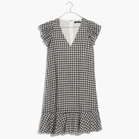 Gingham Ruffle Dress : | Madewell
