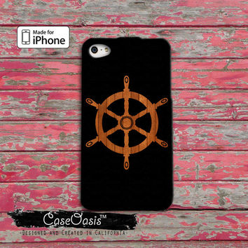 Wooden Ship Steering Wheel Sailboat Hull Cute Tumblr Hipster iPhone 4 and 4s Case and iPhone 5 and 5s and 5c Case iPhone 6 and 6 Plus +
