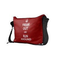 Freak Out and Run Around Commuter Bag from Zazzle.com
