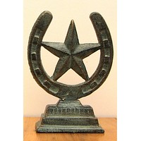Cast Iron Table Top Horseshoe / Star