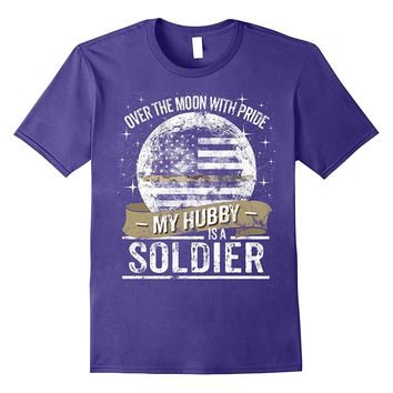 Soldier Hubby Support Thin Camo Line Military T Shirt