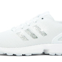 Adidas ZX Flux + Crystallized Swarovski 3-Stripe - Triple White