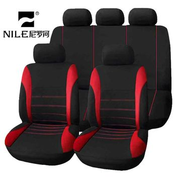 Nile Universal Car Seat Cover Kit 9 PCS Full Seat Covers for Auto Car Seat Protect Luxury Breathable Mesh Seat Cover