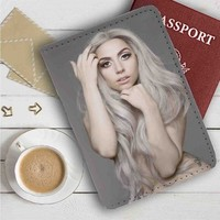 Lady Gaga Leather Passport Wallet Case Cover