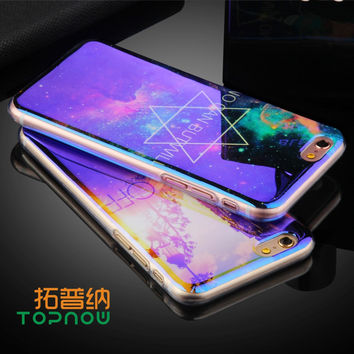 Topnow TPU Case for iPhone 6 6S 6 Plus 6sPlus New Arrival For iPhone7 7Plus Cover IMD Flower Blu-ray Soft Silicon Phone Cases