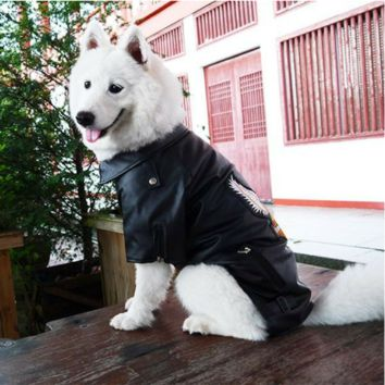 Moto-Leather Jacket for Large Breeds
