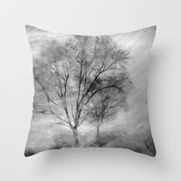 Windy trees Throw Pillow by Guido Montañés