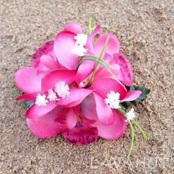 Orchid Wonder Pink Hawaiian Flower Hair Clip