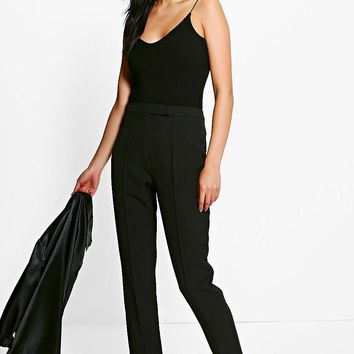 Megzhan Pintuck Tailored Ankle Grazer Trousers | Boohoo