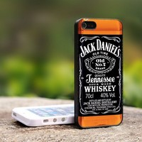 Jack Daniels Whiskey - For iPhone 5 Black Case Cover