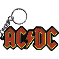 AC/DC Rubber Key Chain Red