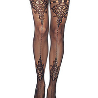 Cathedral Lace Fishnet Pantyhose - PLASTICLAND