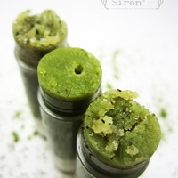"Organic Lip Scrub NEW - Matcha Tea Sugar Scrub - ""Green Ice"" Organic Tea flavor"
