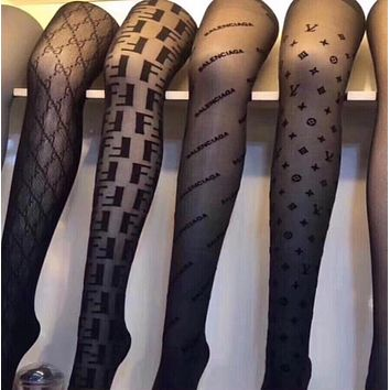 LOUIS VUITTON GUCCI FENDI Balenciaga Sock Long Socks Tights Women Hosiery Body Stocking Pantyhose