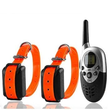 1000m Remote Dog Training Electric Collar Pet Dogs Shock Training Collar Waterproof Rechargeable LCD Remote for Two 2 Dogs