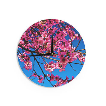 "Maynard Logan ""Flowers"" Wall Clock"