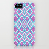 Aqua Berry Ikat iPhone & iPod Case by Beth Thompson