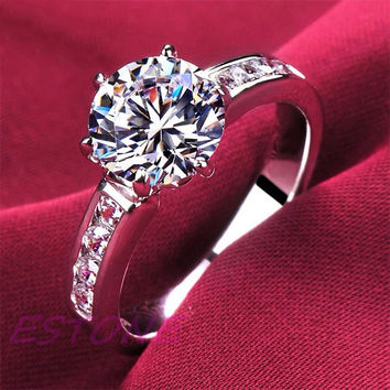 Elegant Womens Fashion Jewelry Gift S925 Sterling Silver Ring Size 5-8 FREE SHIPPING