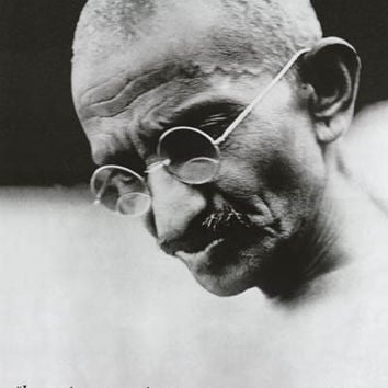 Mahatma Gandhi Live and Learn Quote Poster 24x36