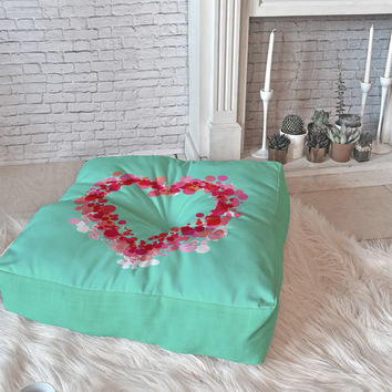 Lisa Argyropoulos Be Still My Heart Floor Pillow Square