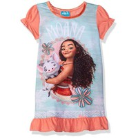 Disney Girls Moana Nightgown, Gown Sizes 2T-10 - Walmart.com