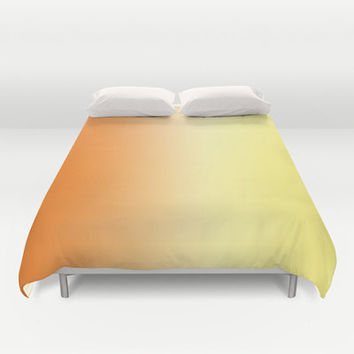 Orange Ombre Duvet Cover -  Bed Spread -  Duvet Cover Only - Bedding