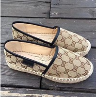 Gucci New Fashion Cloth fisherman shoes