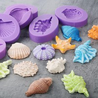 Yueyue Sugarcraft Sea Shell Silicone Cake Molds Fondant Cake Decorating Tools Gumpaste Chocolate Candy Soap Fimo Clay Moulds