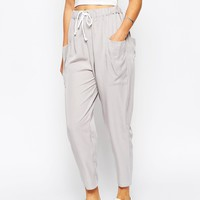 ASOS Woven Drape Pocket Pants with Draw Cord