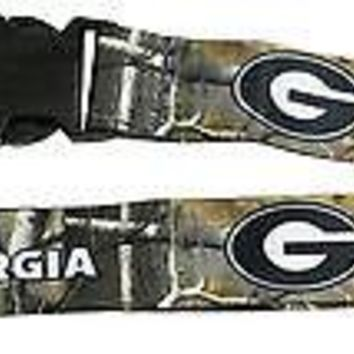 Georgia Bulldogs CAMO 2-sided Premium Breakaway Lanyard w/Keychain University of