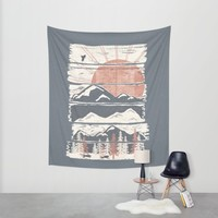 Winter Pursuits... Wall Tapestry by NDTank