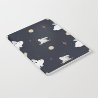 Bunnies on the Moon Notebook by lalainelim