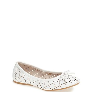 Toddler Girl's Ruby & Bloom 'Joslin' Cutout Ballet Flat
